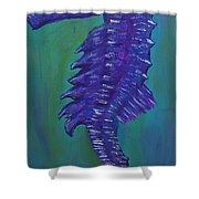 Purple Seahorse Shower Curtain