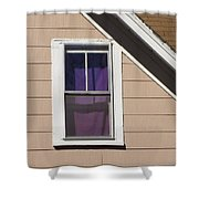 Purple Shade Composition Shower Curtain