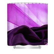 Purple Silk Shower Curtain