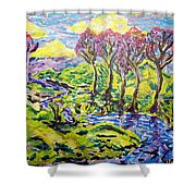 Purple Skies Seven Shower Curtain
