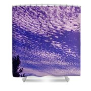 Purple Sky At Casapaz Shower Curtain