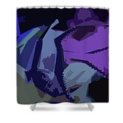 Purple Smash Shower Curtain