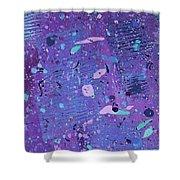Purple Splash Shower Curtain