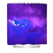 Purple Storm Shower Curtain