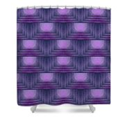 Purple Sun Deco Shower Curtain