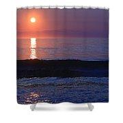 Purple Sunrise On Nauset Beach Shower Curtain