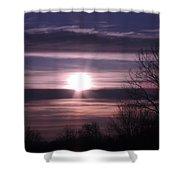 Purple Sunrise Shower Curtain