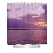Purple Sunset At Kapalua Beach Shower Curtain