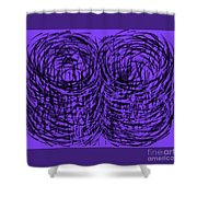 Purple Swirls Shower Curtain