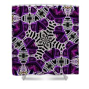 Purple Top Hats Kaleidoscope Shower Curtain