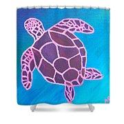 Purple Turtle Shower Curtain