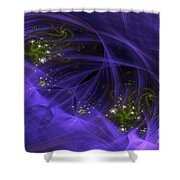 Purple Universe Shower Curtain