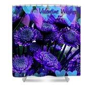 Purple  Valentine Shower Curtain