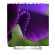 Purple Viola Wave Shower Curtain