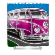 Purple Vw Bus Shower Curtain
