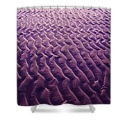Purple Waves Of Sand Shower Curtain