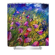 Purple Wild Flowers  Shower Curtain