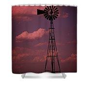 Purple Wind Shower Curtain