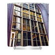 Chicago Golden Purple Window Panes Shower Curtain