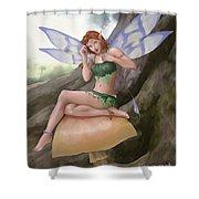 Purple Wings Shower Curtain