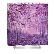 Purple Woods Shower Curtain