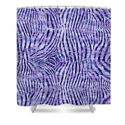 Purple Zebra Print Shower Curtain