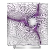 Purplish Shower Curtain