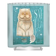 Purr, Smile Cat Shower Curtain