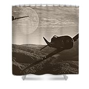 Pursuit Of The Fox Shower Curtain