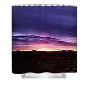 Puruple Sunset Shower Curtain