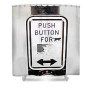 Push Button For Cat Shower Curtain