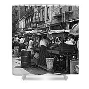 Pushcart Market, 1939 Shower Curtain