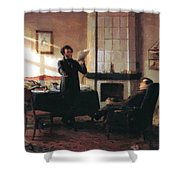 Pushkin In The Village Mihaylovskoye Shower Curtain