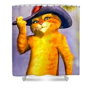 Puss In Boot Shower Curtain