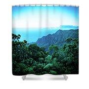 Puu O Kila Lookout, Kauai, Hi Shower Curtain