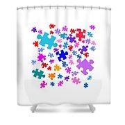 Puzzle Pieces Shower Curtain