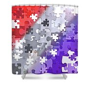 Puzzled - Conceptual Abstract Shower Curtain