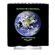Puzzling  Shower Curtain