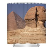 Pyramid And Sphinx Shower Curtain
