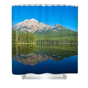 Pyramid Island In The Pyramid Lake Shower Curtain