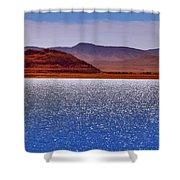 Pyramid Lake Winds Shower Curtain