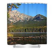 Pyramid Mountain In The Morning Shower Curtain