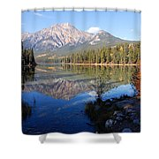 Pyramid Moutain Reflection Shower Curtain