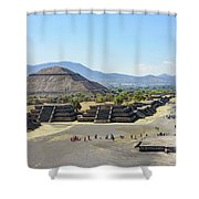 Pyramid Of The Sun And Avenue Of The Dead Shower Curtain