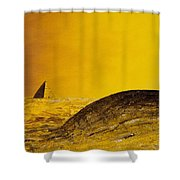 Pyramid Oil Shower Curtain