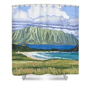 Pyramid Rock Shower Curtain