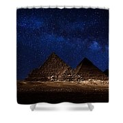 Pyramids Milky Way Shower Curtain