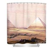 Pyramids Of Geezeh - Egypt Shower Curtain