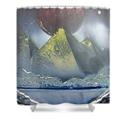 Pyramids Of The Red Moon Shower Curtain