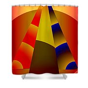 Pyramids Pendulum Shower Curtain